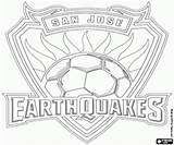 Jose San Earthquakes Coloring Soccer Pages Mls Canada Football Emblems Championship Major League Usa sketch template