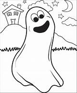 Ghost Coloring Printable Halloween Sheets sketch template