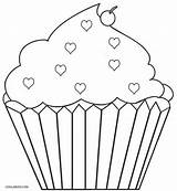 Coloring Cupcakes Pages Cupcake Printable Template Colouring Muffin Ice Cream Cake Crafts Cool2bkids Printing Felt Curly Children Yummy Sweets Baseball sketch template