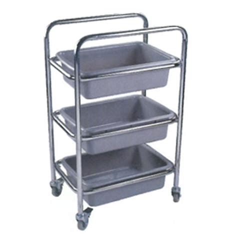 dish collecting cart stainless steel grazip