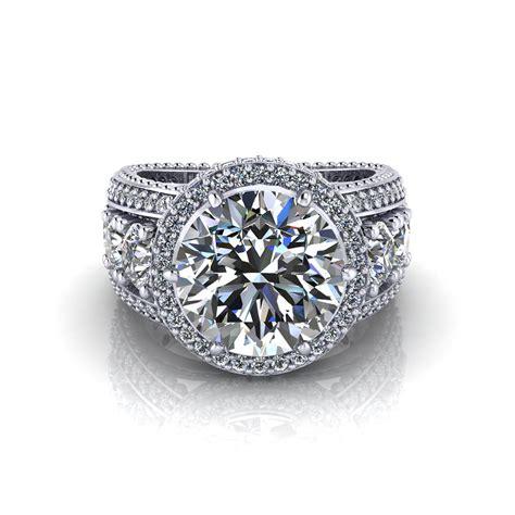 wedding rings 3 carat 3 carat halo engagement ring jewelry designs