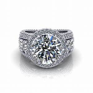 3 carat halo engagement ring jewelry designs With 3 carat wedding rings