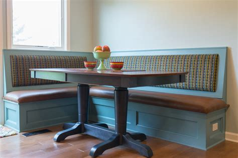 bench seating and dining table traditional dining room