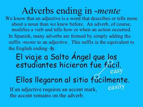 20 Adverbs Ending In Mente