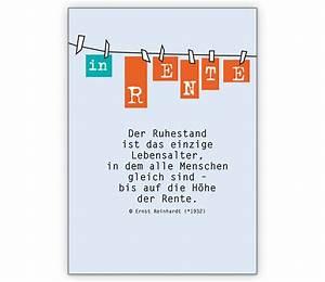 Entspannt In Die Rente : in rente die gru karte zum ruhestand grusskarten ~ Lizthompson.info Haus und Dekorationen