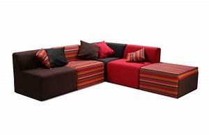 canape design modulable 5 places assortiment ethnique With tapis ethnique avec canape angle tetiere relevable