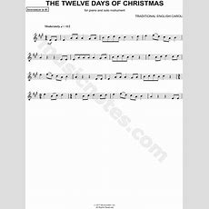 "Traditional English ""the Twelve Days Of Christmas  Bb Instrument"" Sheet Music (trumpet"