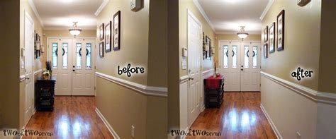 paint half wall with chair rail do you a chair rail