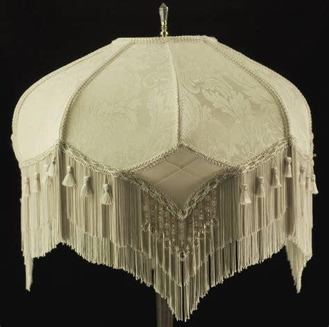 plain jane l shades stunning vintage look victorian lampshade ivory damask