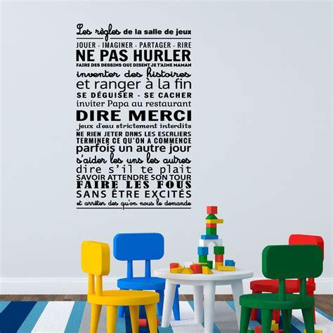 poser du carrelage mural cuisine sticker les règles de la salle de jeux stickers citations français ambiance sticker