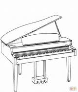 Coloring Piano Pages Grand Printable Drawing sketch template