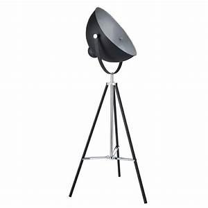 Lampadaire Maison Du Monde : lampadaire tr pied en m tal noir h 145 cm photographe ~ Premium-room.com Idées de Décoration