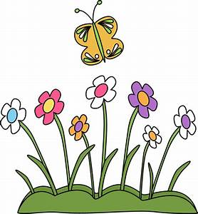 Butterfly and Flowers Clip Art - Butterfly and Flowers Image