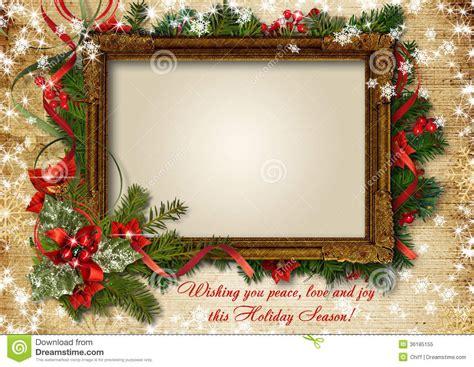 vintage shristmas card  frame  photo  text