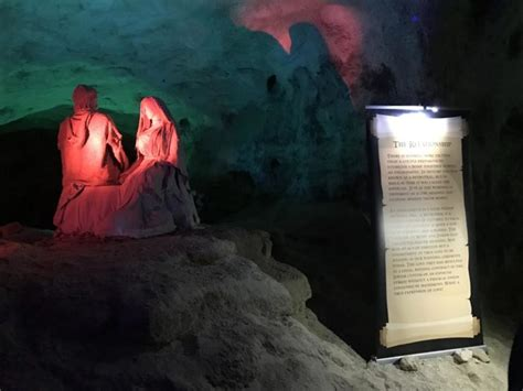 christmas cave  minford ohio  white gravel mines