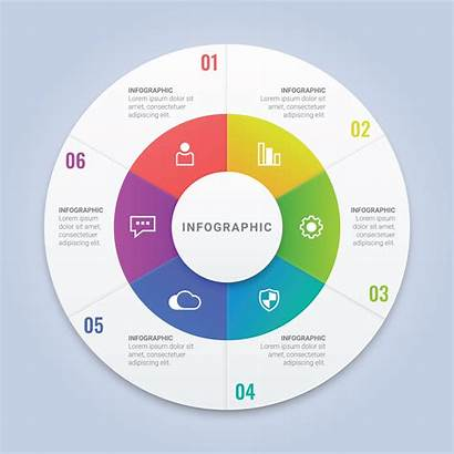 Circle Infographic Template Web Annual Report Vector