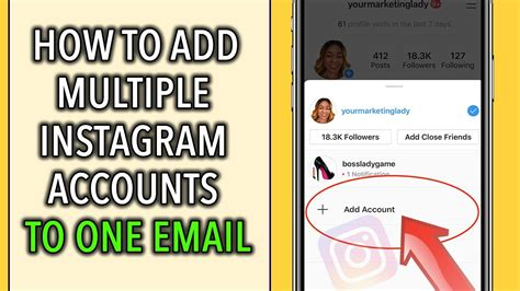 instagram account second create email