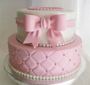 made fresh daily quilted pink and white baby shower cake ...