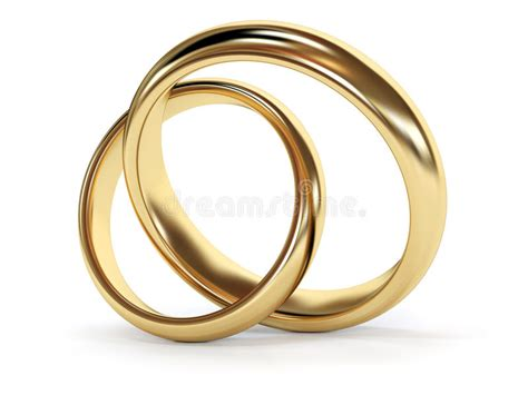 gold connected rings stock illustration illustration of