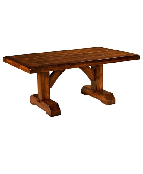 How To Build A Dining Room Table by Reagan Trestle Table Amish Direct Furniture
