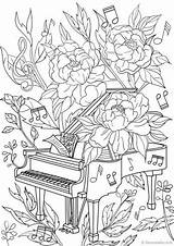Coloring Piano Adult Adults Printable Colouring Favoreads Sheets Abstract Detailed Colorir Mandala Desenhos 색칠 Flowers 컬러링 공부 Mandalas Riscos Coloriage sketch template