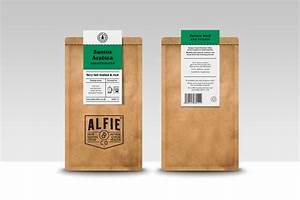 alfie co the dieline branding packaging With coffee bag labels