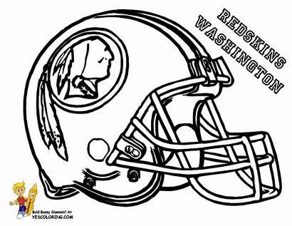 Coloring Pages Nfl Football Helmets Helmet Teams