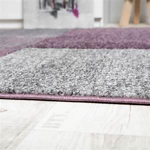 Teppich Grau Lila : designer teppich hochwertig kariert konturenschnitt sprenkeln in lila beige grau wohn und ~ Indierocktalk.com Haus und Dekorationen