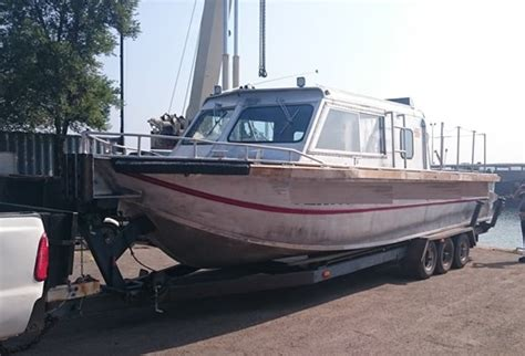 Aluminum Boats For Sale Montreal aluminum jet boat 12 passenger more pictures added 1974