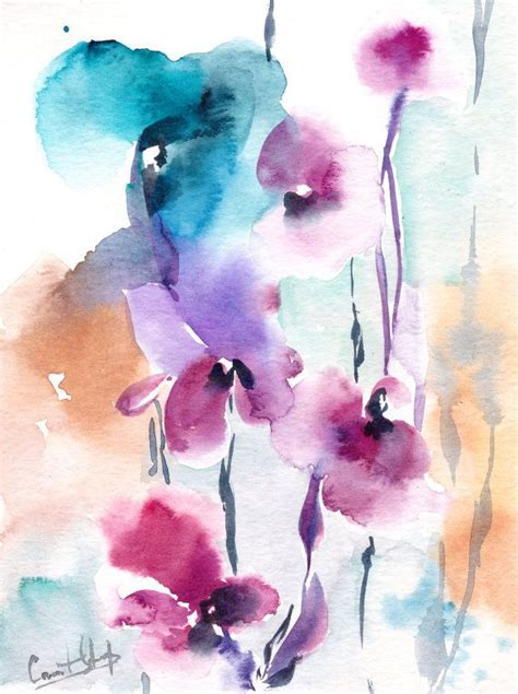 17 best ideas about abstract watercolor on