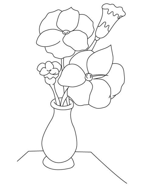 berlatih mewarnai gambar gambar vas bunga untuk mewarnai
