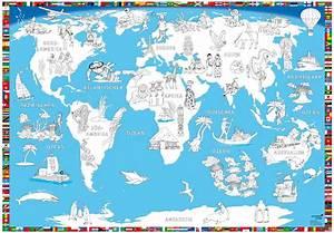 Weltkarte Kontinente Kinder : malkarte welt druckbunt verlag ~ A.2002-acura-tl-radio.info Haus und Dekorationen