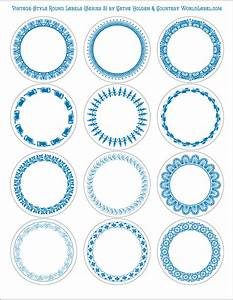 Vintage style round labels by cathe holden series 2 for 5 inch round labels