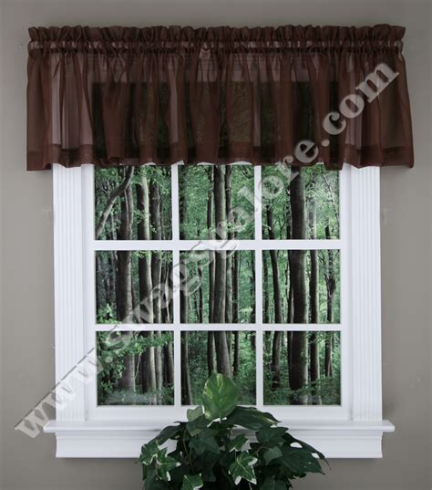 elegance sheer valance tiers swags smoked blue