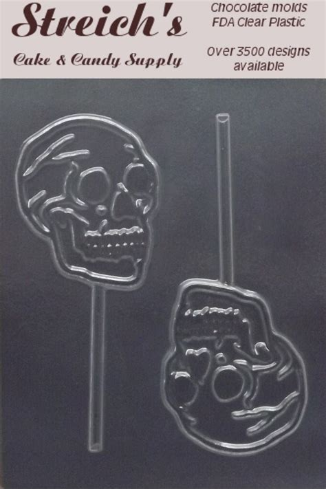 skeleton head lollipops chocolate candy mold ebay