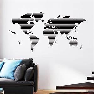 Carte Du Monde Sticker : carte du monde stickers muraux pays et villes ~ Dode.kayakingforconservation.com Idées de Décoration