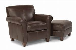 Leather Ottoman By Flexsteel Furniture Moore Furniture