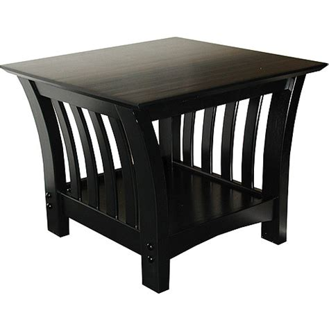 Florenzia End Table Black Furniture Walmart Com