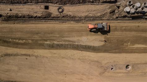 aerial   top  view   construction site