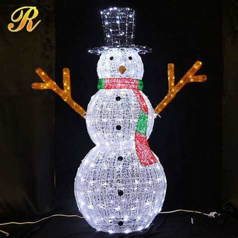 outdoor lighted snowman 3d led light snowman led