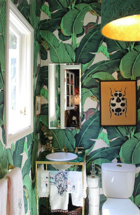 banana leaf print decor   home