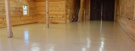 The Barn ? Desert Tan Epoxy Floor