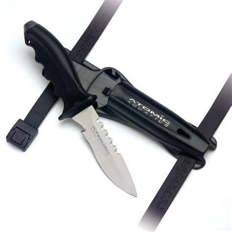 Dive Knives - atomic aquatics ti6 titanium diving knife