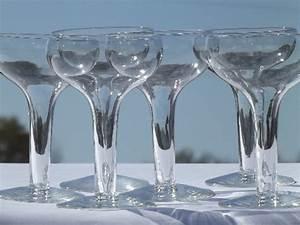 Retro Hollow Stem Champagne Glasses Vintage Libbey