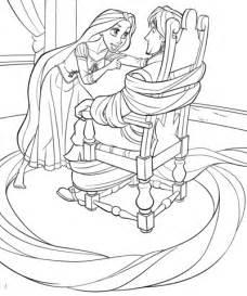 rapunzel ties  flynn coloring page  printable