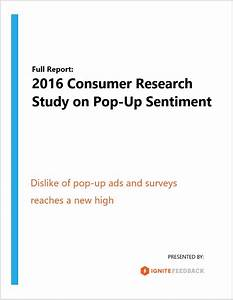 Study Finds Dislike of Pop-up Ads and Surveys Reaches New High