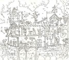 castle colouring in poster by really
