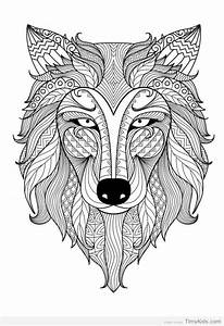 mandala animals coloring pages TimyKids