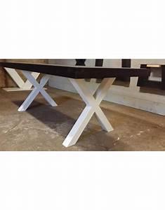 Schiebegardine 300 Cm Lang : tuintafel 70 cm breed tot 300 cm lang met houten x poten r de b meubels op maat ~ Markanthonyermac.com Haus und Dekorationen