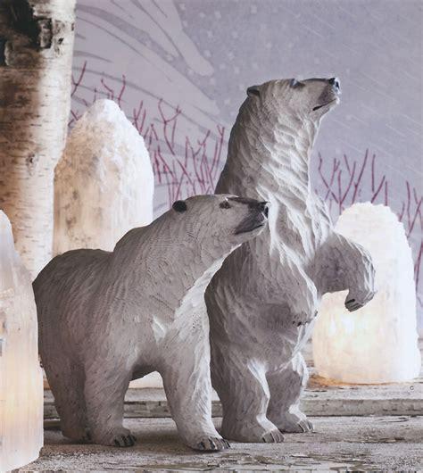 home and decor showy snowy wooden polar nova68 com
